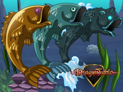 DragonFable Cysero Fish Capes