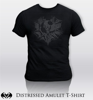 DragonFable HeroMart distressed amulet shirt