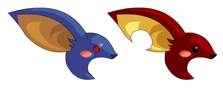 DragonFable Anniversary Twilly and Zorbak heads