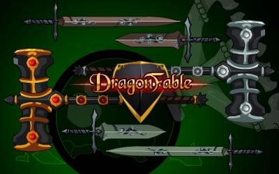 DragonFable Cysero Rebel Weapons
