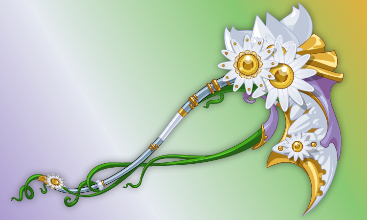 DragonFable Mother's Day Daisy Flower Scythe